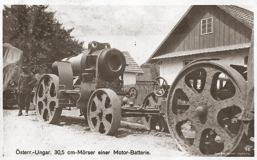 305 mm batterie ostro-hongrois affut