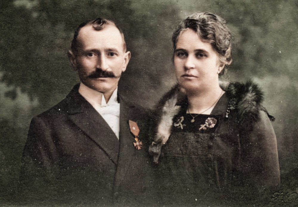 asu portrait des epoux scheys 1920