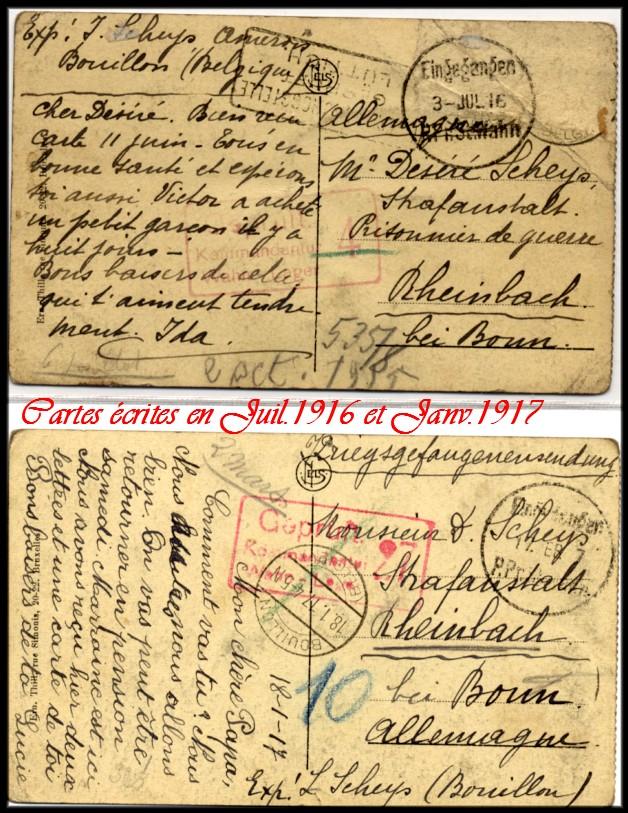 site 017 cartes écrite en 1916 et 1917