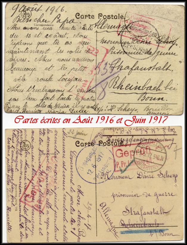 site 018 cartes écrite en 1916 et 1917