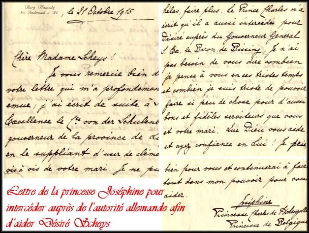 site 040  21 Oct 1915 lettre de la Princesse