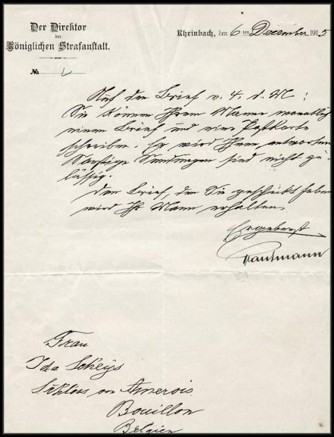 site 046  6 déc 1915 lettre allemande