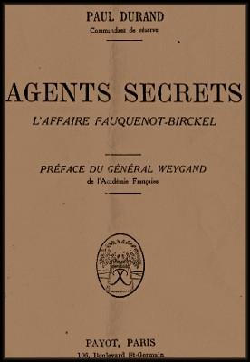site 050  Agents secrets livre parlant de Scheys garde aux Amerois couverture