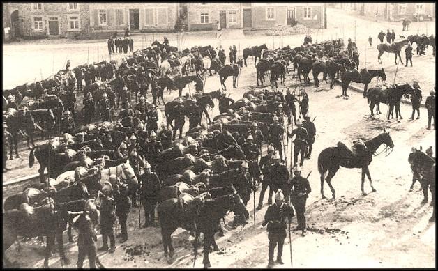 site 22 aout 1914 rassemblement des Dragons  Français du 18ème Corps