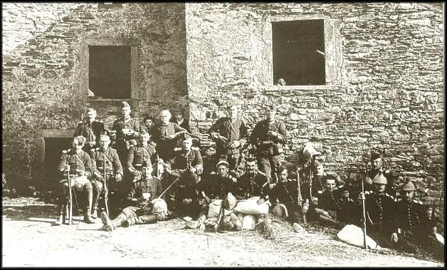 site 6 aout 1914 repos des  Dragons  Français