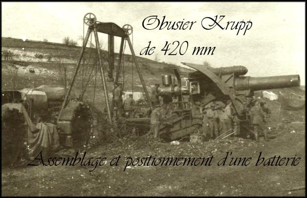 site Obusier Krupp de 420 mm positionnement