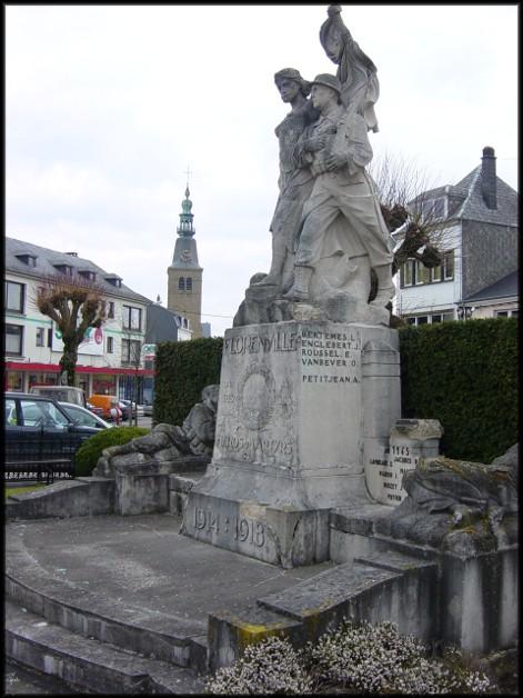 site florenville photo du monument actuel avec église