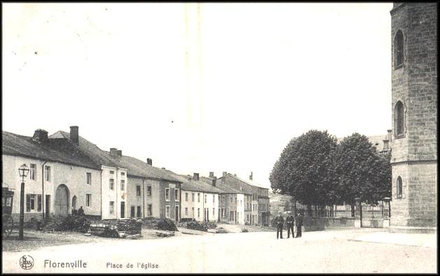 site florenville place de l'église avant la guerre
