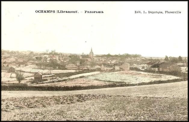 site ochamps panorama du village color