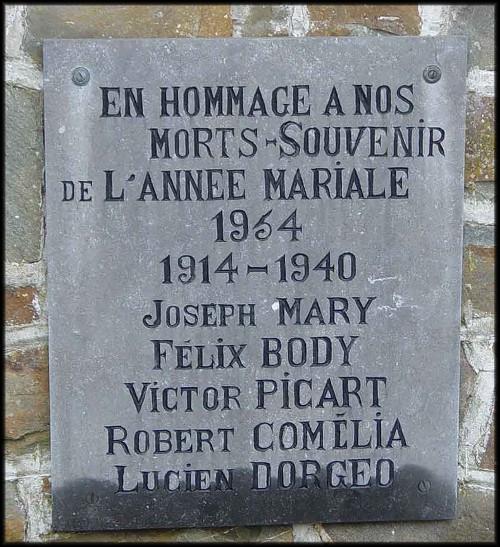 site plaque commémorative 1954 auby
