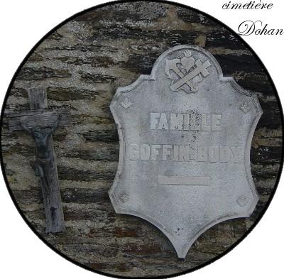 site plaque fixée au mur du cimetière de Dohan