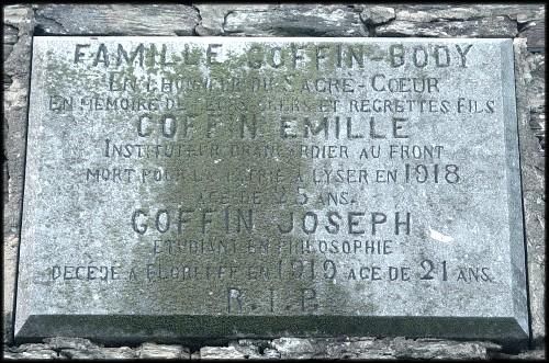 site plaque souvenir