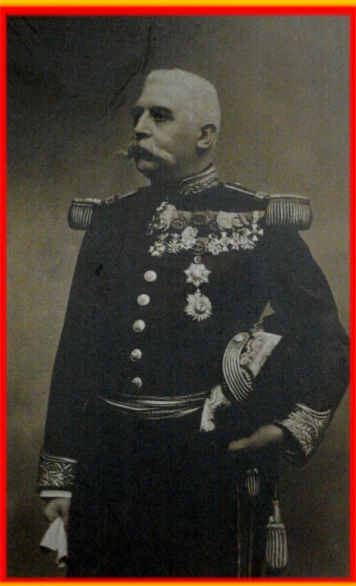 site portrait du  général cuvelier à sa nièce