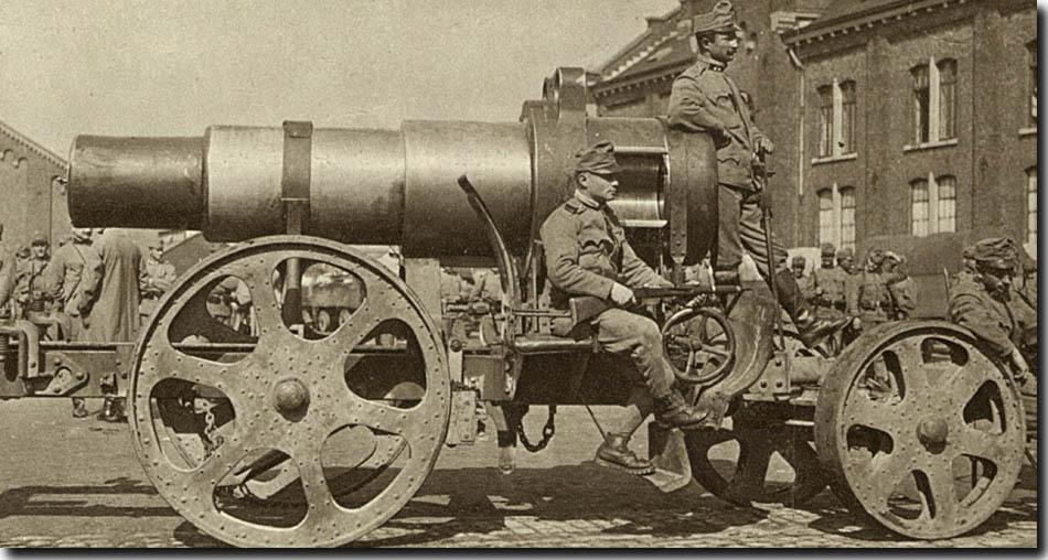 site so be 1914 Sept à bruxelles bataillon n°8 div 1 autrichien ,mortier 305 mm