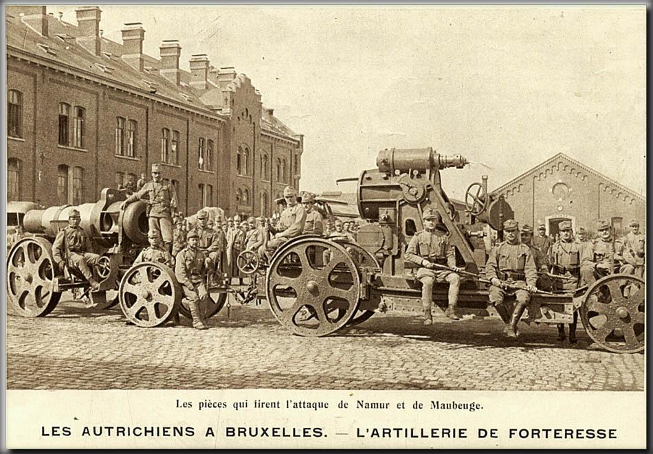 site so be 1914 l'artillerie de forteresse allemande qui firent les attaques des forts de namur