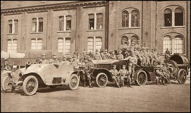 site so1914 Sept bruxelles ensemble de projecteur motorisé pour l'artillerie autrichienne