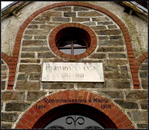site reconnaissance à Marie 1914-18