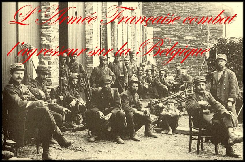 site  infanterie française au repos dans un village ardennais en belgique