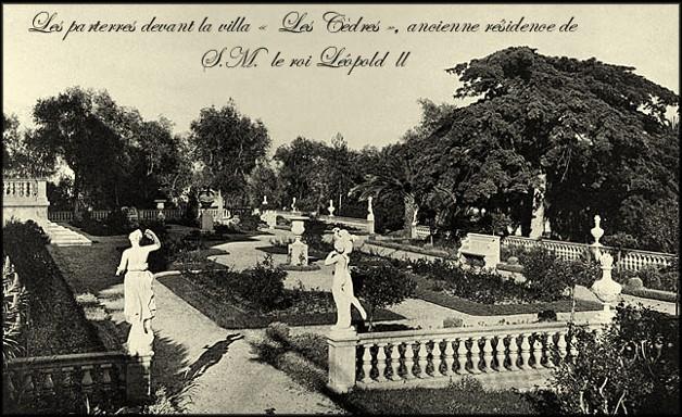 site saint jean cap ferrat villa les cèdres jardins