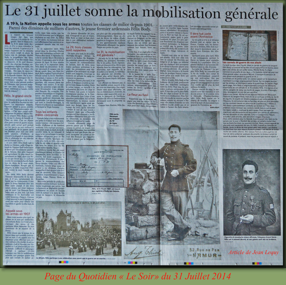 site to be article de Jean Lequy dans Le Soir