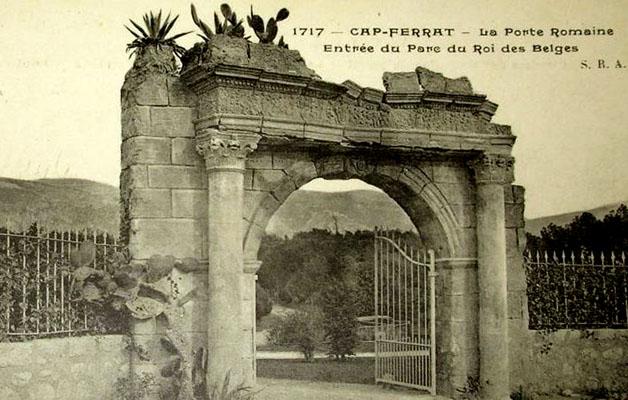 ws cap ferrat porte romaine 1904 entrée parc du roi léopold