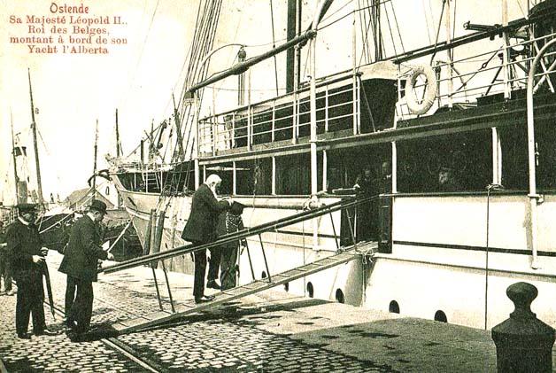 ws léopold II embarque sur yacht Alberta 2
