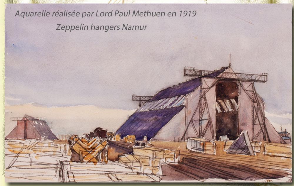 zeppelin hangers Namur 1919 de Lord Methuen
