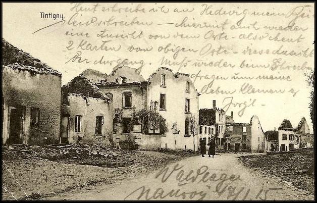 site tintigny feldpost destruction  janv1915