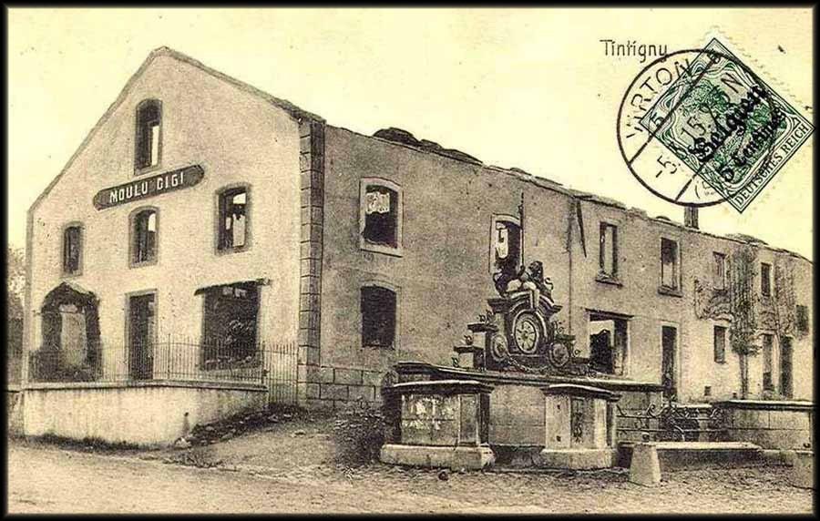 site toitures brûlées timbre allemand