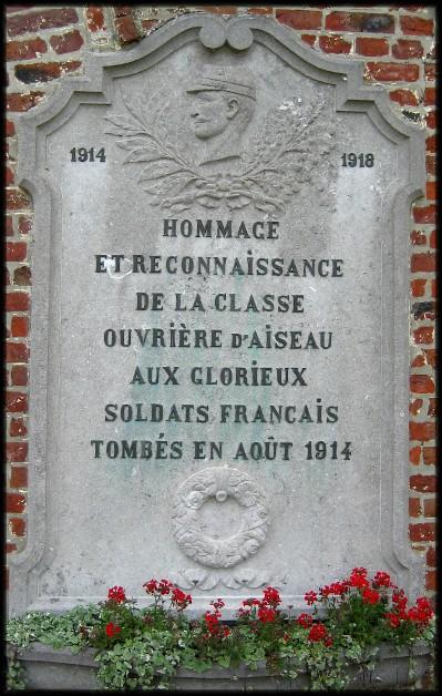 site Belle-Motte Aiseau-Presles hommage aux français