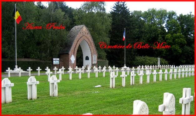 site cimetière de Belle-Motte Aiseau-Presles