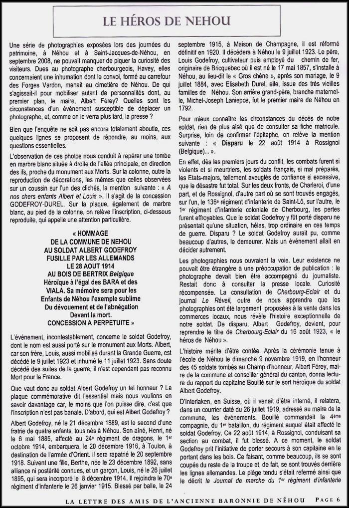 site extrait du Bulletin Néhou  p.2