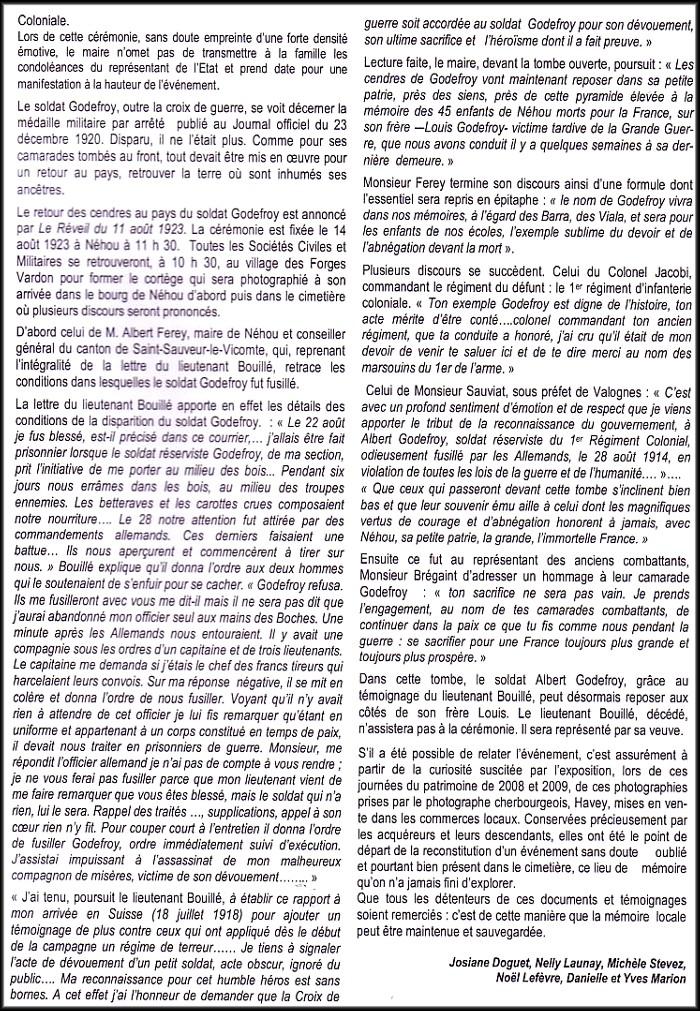 site extrait du Bulletin Néhou  p.3