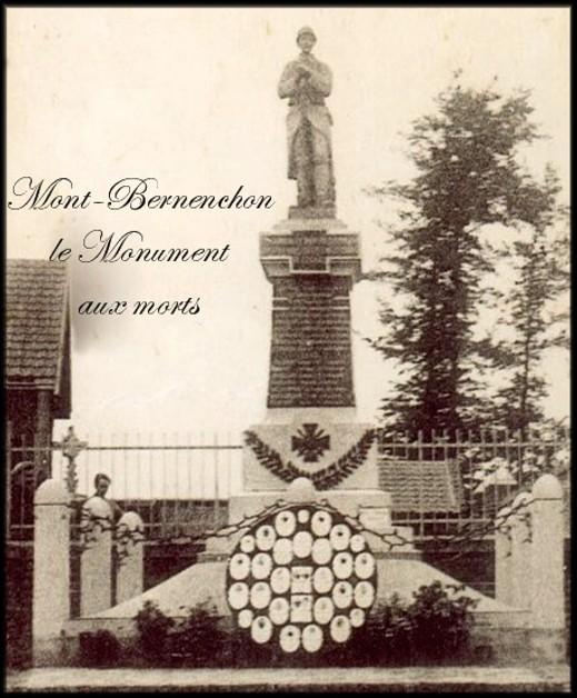site monument le  mont bernenchon