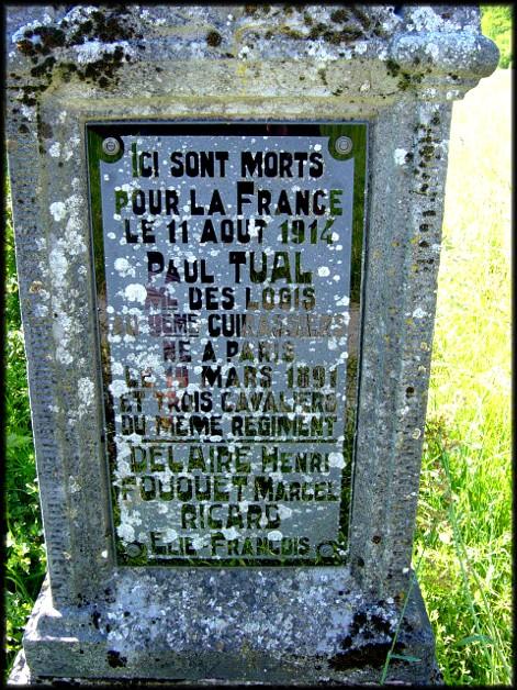 site sépulture de Tual du 9ème cuirassier