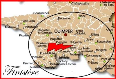 site st evarzec carte quimper