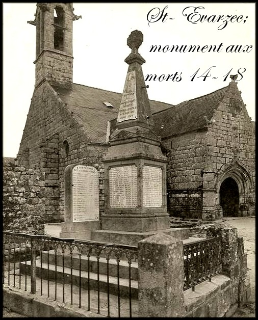 site st evarzec le monument aux morts