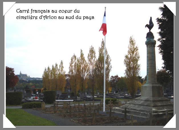 ws carré français su cimetière d'arlon au sud du pays