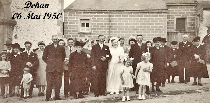 Félix BODY & Madeleine Goffin Mariage 6mai 1950 03