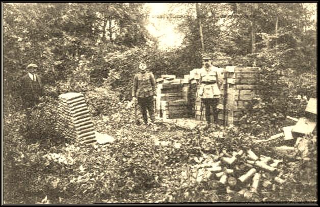 site bellefontaine dépot obus et soldats francais