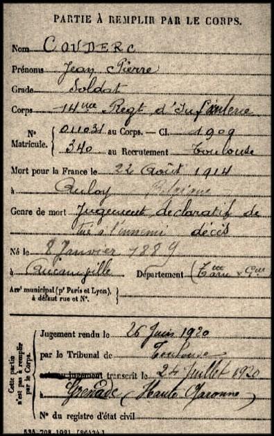 site couderc jean pierre 14 ri enterré à anloy né 8 janvier 1889