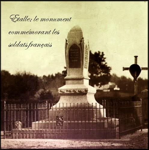 site etalle monument commémorant les soldats francais