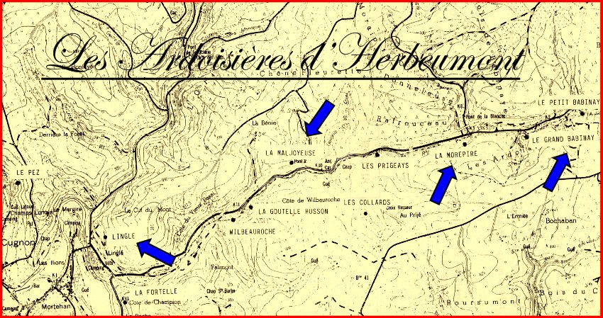 site plan des ardoisières d'herbeumont