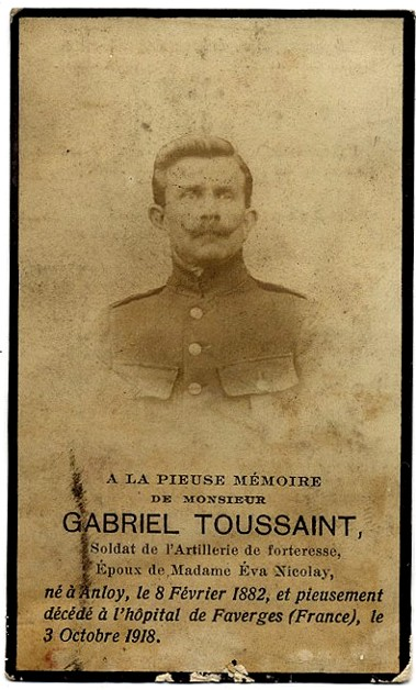 site Toussaint Gabriel avis mortuaire