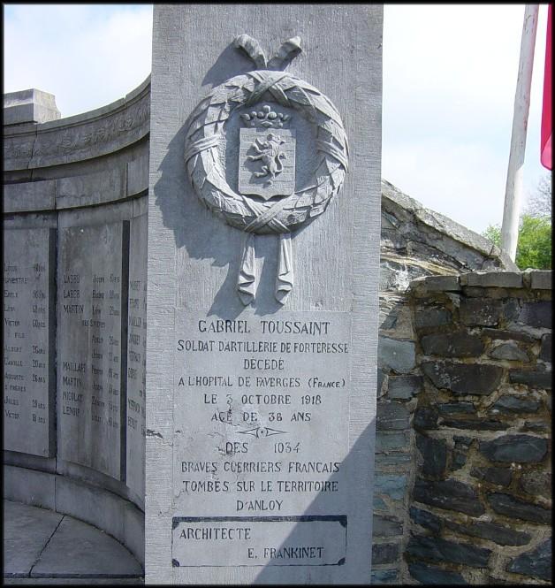 site anloy gabriel toussaint sur monument