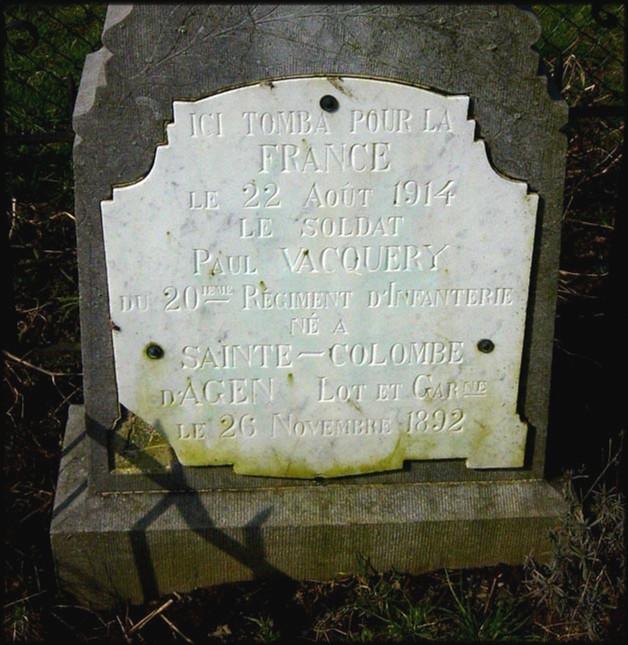 site sépulture Paul Vacquery détail