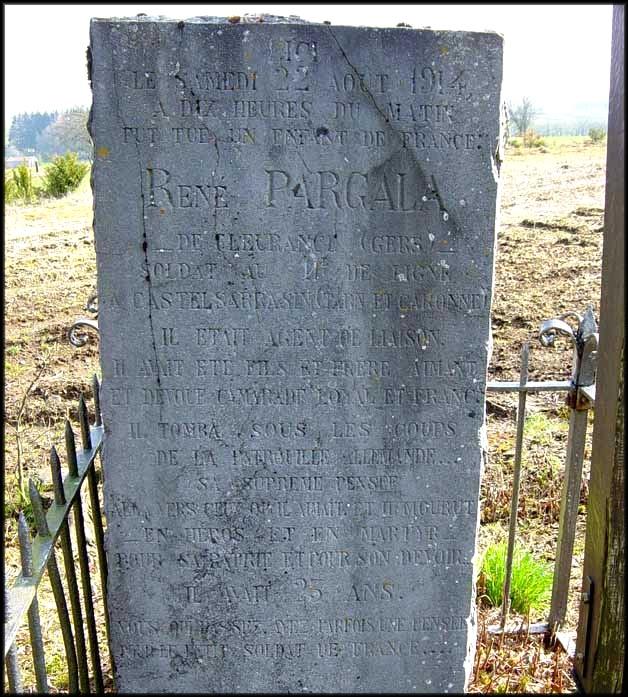 site sépulture René Pargala détail