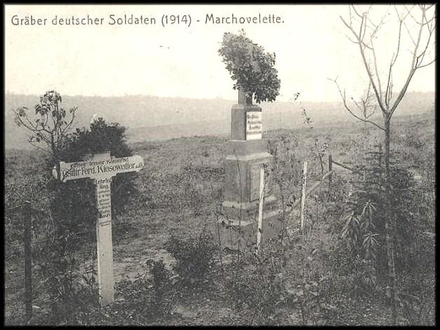 site marchovelette soldats allemands sépultures