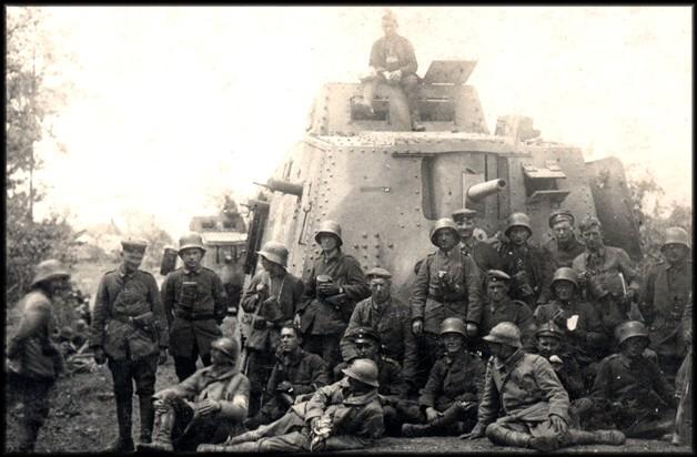 2 TANKS a7v ALLEMANDS EN Mars 1918