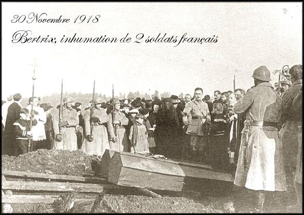 site 30 nov 1918 Inhumation de 2 Soldats Français